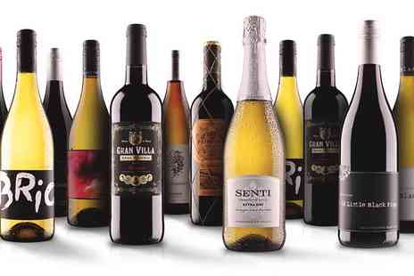 Virgin Wines Online - 12 bottles of wine: red, white or mixed case, exc P&P - Save 68%