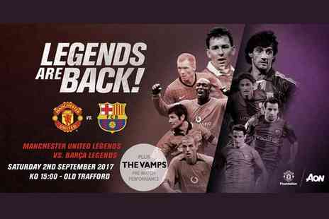 Manchester United Football Club - Childs or adult ticket to the Legends Are Back Manchester United vs Barca Legends charity football match - Save 0%