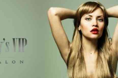Jays VIP Salon - Half Head Highlights or Full Head Colour With Cut and Finish - Save 78%