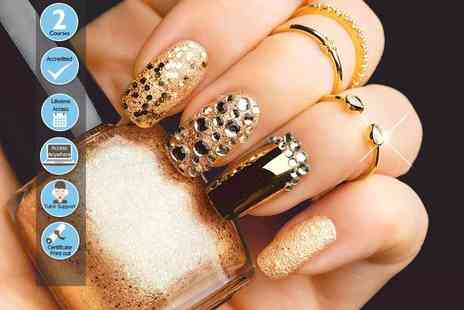 Centre of Excellence - Online nail art course or online nail technician course or both courses - Save 87%