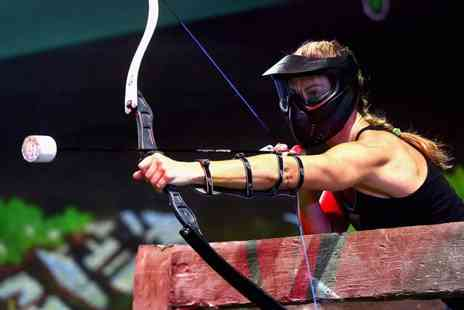 Spartacus Archery Tag - Hen party combat archery experience - Save 40%