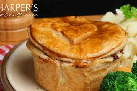 Harpers British Classics - Meal with Up to Three Sides and Drink Each for Up to Six - Save 0%