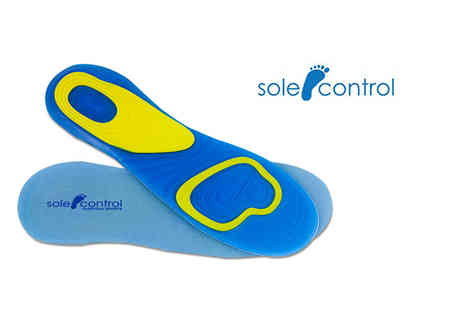 Sole Control - Pair of edge shock absorbing orthotic insoles - Save 82%