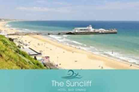 The Suncliff Hotel - In Bournemouth One Night Stay For Two With Dinner and Breakfast - Save 62%
