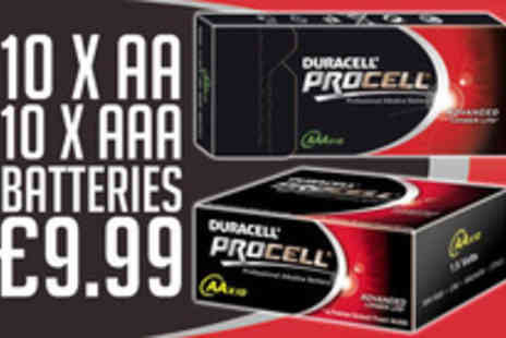 Unze - 10 AA and 10 AAA Duracell ProCell Batteries - Save 50%