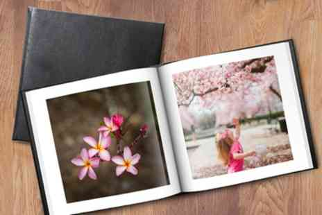 Printerpix - Personalised Leather Photobooks in a Choice of Size - Save 75%