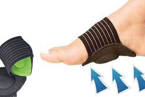 121 Mart - Two Pack of Cushioned Foot Arch Supports - Save 60%