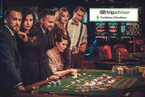 The Sportsman Casino - Two course meal for two including a glass of wine and £10 casino voucher each - Save 66%