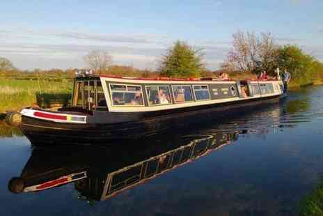 Norbury Wharf - Three hour canal cruise for two people including a fish and chips meal each, on the Shropshire Union Canal - Save 52%
