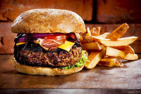 The Northumbrian Piper - Burger and chips with a drink for two - Save 54%