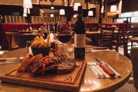 Middletons Steakhouse - Two Course Steak Meal with Wine for Up to Four - Save 20%