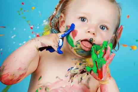 Wink Photography - Kids Paint Splash Photoshoot with Choice of Prints and a Mug or Canvas - Save 95%
