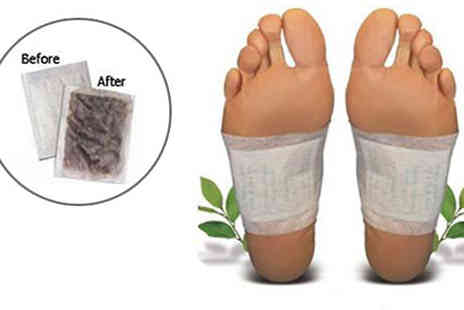 121 Mart - Pack of 10 Detox Foot Patches - Save 68%