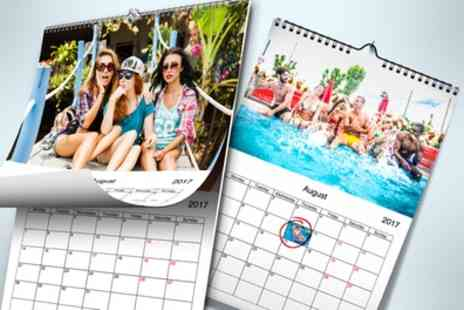 Printerpix - Up to Five Personalised Wall Calendars - Save 77%