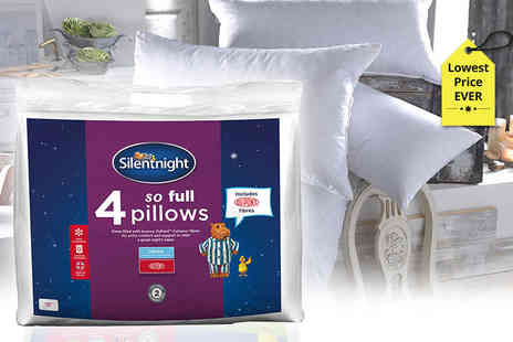 Chums - Four extra full Silentnight pillows and protectors - Save 67%
