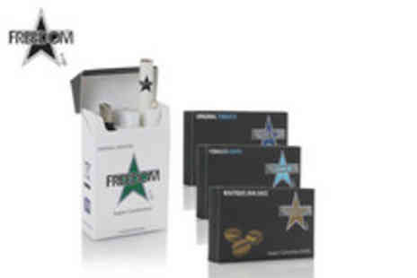 Freedom Cigarettes - An e cigarette bundle including refills equivalent to approximately 280 cigarettes - Save 75%