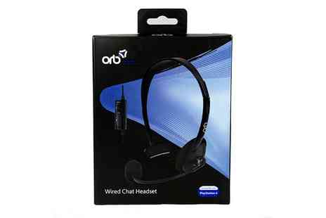 Groupon Goods Global GmbH - ORB Wired Chat Headset for PS4  - Save 0%