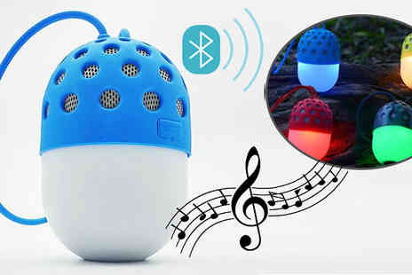 Black Sheep - Waterproof LED Bluetooth MP3 Player in 4 Colours - Save 61%