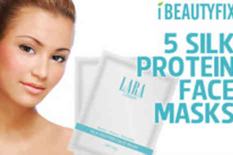 iBeautyFix - On your marks, get set of Five professional silk face masks - Save 73%