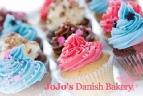 Jo Jos Danish Bakery - 12 Assorted Cupcakes - Save 60%