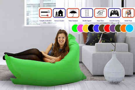UK Beanbags - Large indoor and outdoor big brother beanbag or an extra large beanbag choose from 11 colours - Save 75%