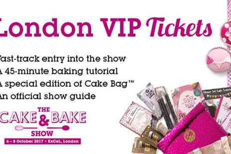 The Cake & Bake Show - VIP Ticket to The Cake & Bake Show with a Classroom Session  on 6 or 8 October - Save 40%
