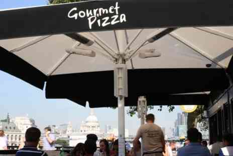 Gourmet Pizza Gabriel's Wharf - Two Course Meal with Wine for Two or Four - Save 49%