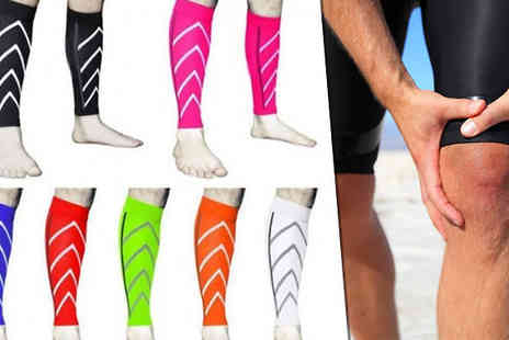 Mooch UK - 1 or 2 Compression Socks Available in 7 Colours - Save 60%