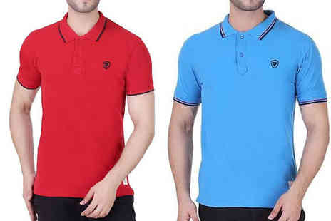 Blu Apparel - Tipped Polo Shirt in 8 Colours - Save 67%