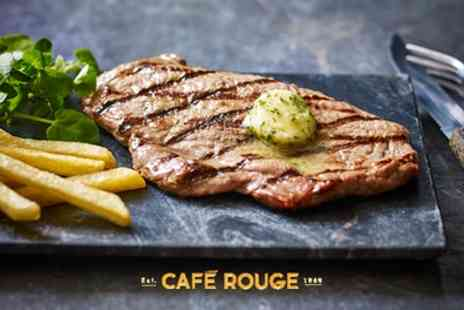 Cafe Rouge - Steak Frites and Wine for Two, Four or Six Valid from 27th September - Save 57%