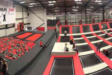 Urban Jump - One or Two Hour Open Jump and Urban Rainforest Experience Session for Up to Four - Save 25%