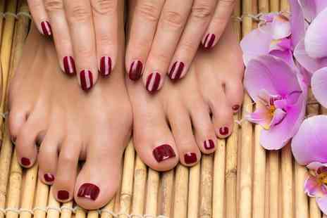 Pedicure Plus - Deluxe Manicure, Pedicure or Both - Save 54%