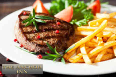 The Anchor Inn - Two course gastropub meal for 2 & a glass of wine - Save 59%
