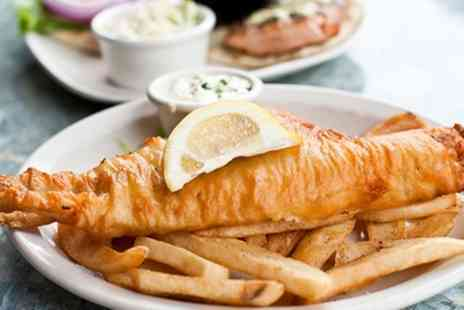 Bakewell Fish & Chips - Haddock and Chips with Mushy Peas, Curry or Gravy for Two - Save 36%