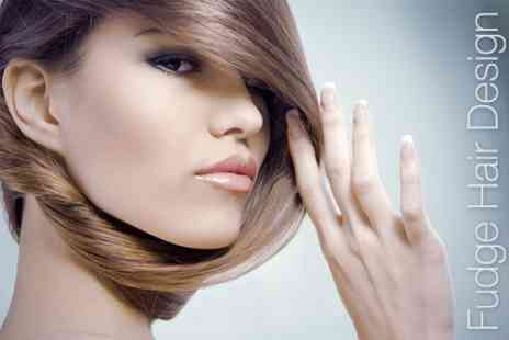 Fudge Hair Design - Half Head of Highlights with Cut, Blow Dry and Conditioning Treatment - Save 67%