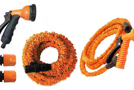 Internet Shop -  25ft to 75ft  Extendable Garden Stretch Hose & Spray Nozzle - Save 77%