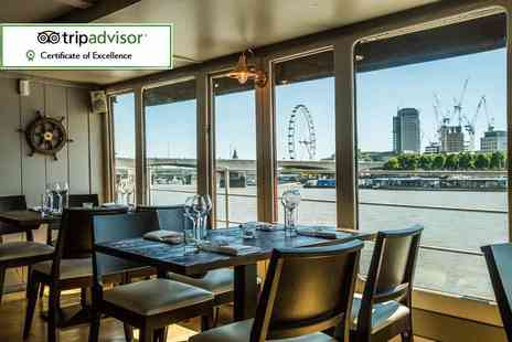 The Yacht London - Sunday lunch on the river for two - Save 33%