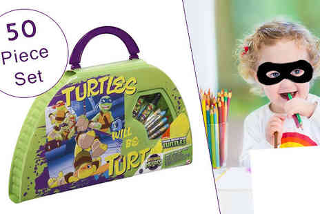 Direct 2 public - Teenage Mutant Ninja Turtles 50 Piece Colouring Carry Set - Save 85%