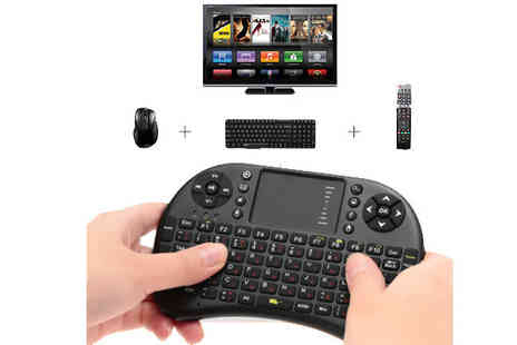Goods Direct - Mini Wireless Keyboard Remote with Touchpad Compatible with TV, Xbox, PC and more - Save 25%