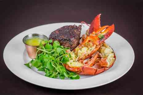 McQueen - Fillet steak with lobster, bottomless fries and a glass of premium Champagne each for two - Save 63%