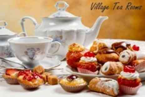 Village Tea Rooms - Afternoon Tea For Two With Selection of Scones, Cakes, and Sandwiches - Save 54%