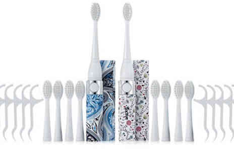 AMS Global - Set of 2 Sonic Toothbrushes Plus Accessories - Save 55%