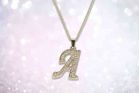 Fakurma - Crystal initial necklace - Save 82%