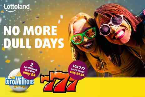 Lottoland - Two Euromillions bets and ten 777 scratchcards - Save 53%