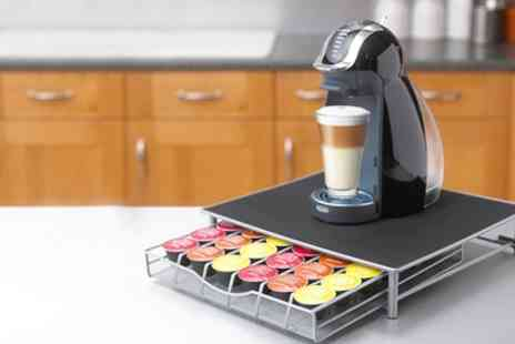 Groupon Goods Global GmbH - Coffee Machine Stand and Pod Drawer for Dolce Gusto & Nespresso - Save 76%