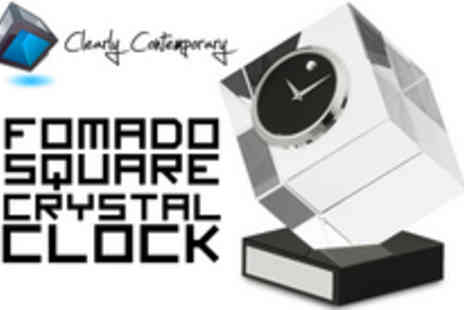 Clearly Contemporary - A stunning Crystal Formado clock - Save 71%