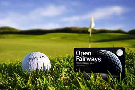 Open Fairways - 6, 12, 18 or 24 Month Open Fairways Golf Privilege Card - Save 44%