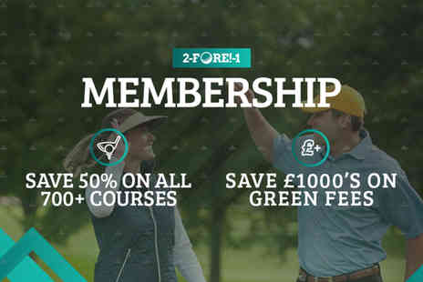 2-Fore-1 - Six month or one year golf membership for two - Save 58%