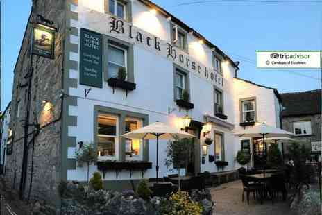 The Black Horse Hotel - Two night Yorkshire Dales stay with two course dinner, late check out and breakfast - Save 49%