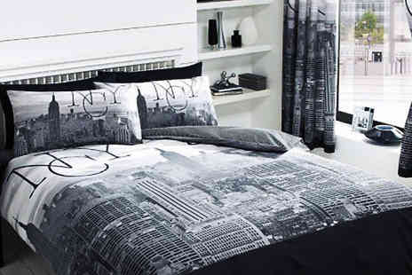 Luxury bed and warehouse - City Themed Duvet Set in 2 Styles and 4 Sizes - Save 70%